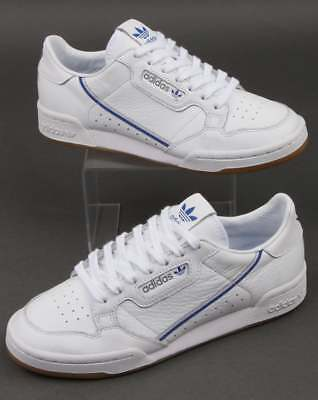 hot sale online cfd67 df9b4 adidas Continental 80 x TFL Trainers in White, Grey  Blue - limited edition