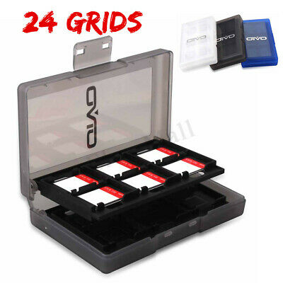 24DS Game Card Storage Protective Hard Carry Case Box Holder For Nintendo Switch