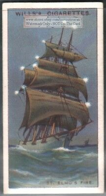 Saint Elmos Fire At Sea c90 Y/O Trade Ad Card