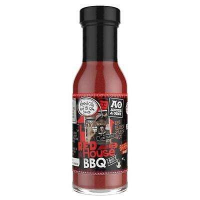 Angus & Oink Red House Kansas City Barbecue Sauce Rub 295ml Hot Spicy Condiment