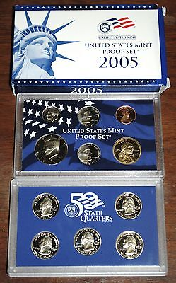 2005-s U.S. Proof Set. Complete and Original in BLUE  mint paper box