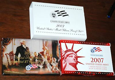 2007-s U.S. SILVER Proof Set.  U.S. Mint Made in Red Mint Box with COA