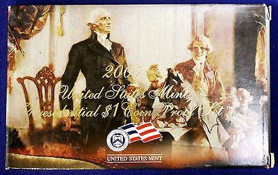 2007 U.S. Mint Presidential 1$ Dollar Coin Proof Set Complete With Box & COA