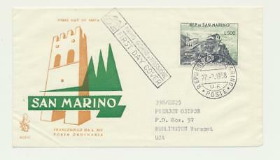 San Marino Scarce 1958, 500L Panoramic View Issue On First Day Cover (See Below)