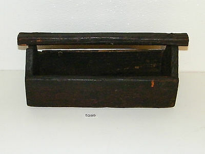 Small Primative Wooden Tool Tray Caddy Box Tote