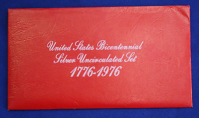 1976 40% Silver Bicentennial 3 Coin Genuine U.S. Mint Sets issued by U.S. Mint