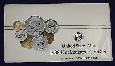 1988 UNCIRCULATED Genuine U.S. MINT SETS ISSUED BY U.S. MINT