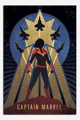Laminated Captain Marvel Art Deco Official Maxi Poster New