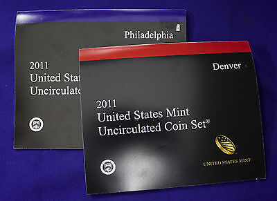"2011 U.S. Mint Set. Complete and Original. 28 coins 14 each from ""P"" and ""D"""