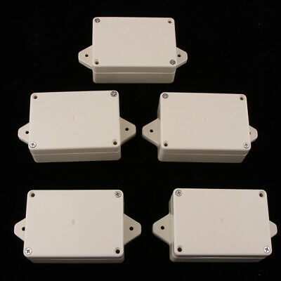 5 Pieces Plastic Junction Boxes for Electronic Projects Power Supply Units