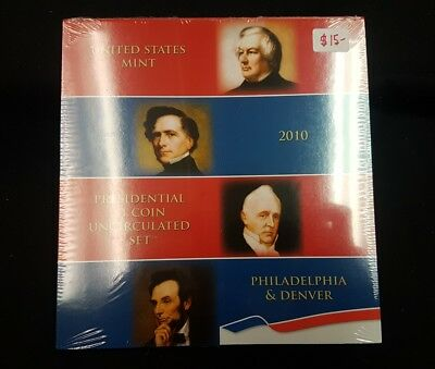 2010 US Mint Uncirculated 1 Dollar Presidential Coin Set sealed in plastic wrap