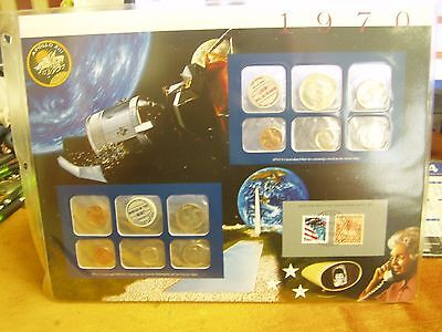 1970 US Uncirculated Coin Mint Sets Collection,Postal Commemorative Society,P&D
