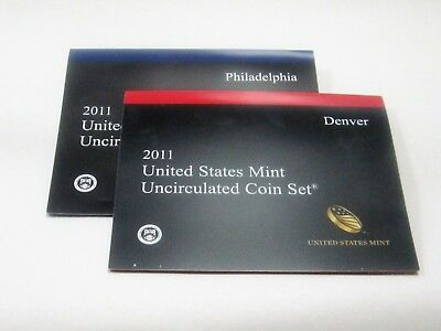 2011 U.S. Uncirculated Mint Set ~ 28 Coins In Original Package & Box Free Ship.