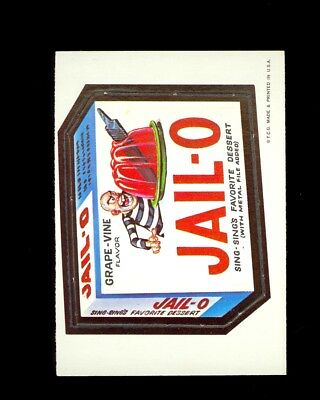 1967 Topps Wacky Packages Sticker Die-Cut #31 JAIL-O METAL FILE ADDED NM/MT