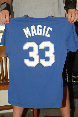 Magic Johnson Los Angeles Dodgers T Shirt Jersey Med Lakers  33 Owner b17e741c4