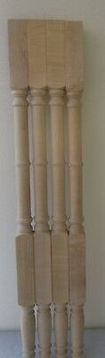 "NEW SET 4  UNFINISHED SOLID MAPLE TABLE FURNITURE LEGS  35 1/4"" high"