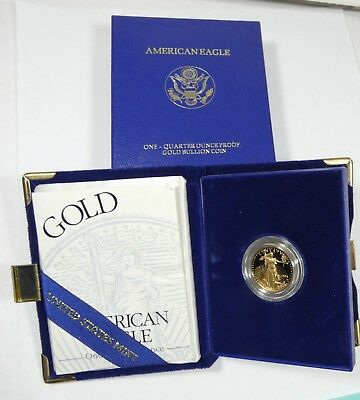 1994 W Proof 1/4 oz Gold Eagle $10 in Original Box  w/ COA