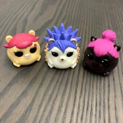 4pcs LOL SURPRISE PETS Cheeky Hedgehog Trouble Squeaker Cherry Spicy Hamsters