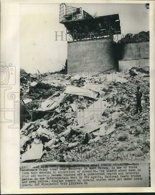 1961 Press Photo Microwave relay tower in East Nevada dynamited - now26508