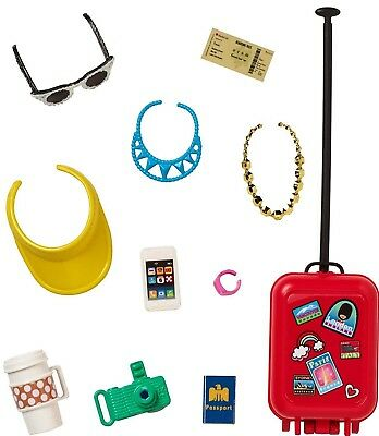Barbie Pink Passport Travel Accessory Fashion Pack Luggage Cell Phone Camera