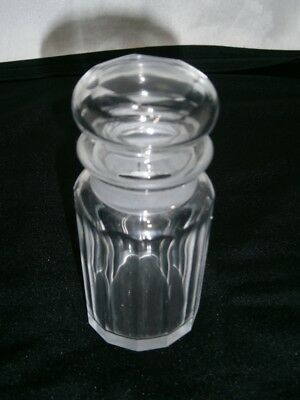 Vintage Vanity Cut Crystal Glass Jar With Stopper For Dressing Table