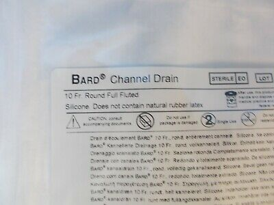 Bard Channel Drain 10 Fr Round Full Fluted # 072186 (IN DATE)