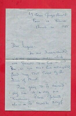 OLIVIA DE HAVILLAND Handwritten SIGNED LETTER JSA AUTHENTIC her marriage 3/1955