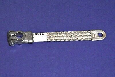 """11/"""" New Heavy Duty Braided Ground Strap Top Post Terminal 4 Gauge Battery Cable"""