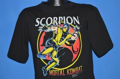 vintage 90s SCORPION MORTAL KOMBAT 1992 MIDWAY ARCADE DEADSTOCK t-shirt YOUTH XL