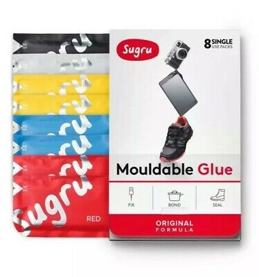 Sugru Multi Color 8 pack Red, Blue, Yellow, Black, White Fix Your House Fresh