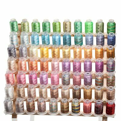 70 Spools Variegated/Shading Embroidery Machine Thread  70 Different Colors