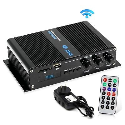 Pyle 2-Channel 200W Bluetooth Weather-Resistant Marine Amplifier