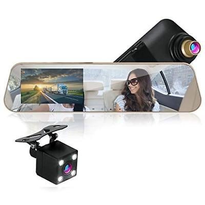Pyle 1080p Touchscreen Vehicle Dual DVR Dash Cam &Monitor System w/ Backup Cam