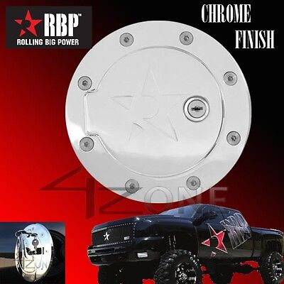 For 09-12 Ford F150 Chrome Aluminum Replacement Gas Fuel Door w// Lock