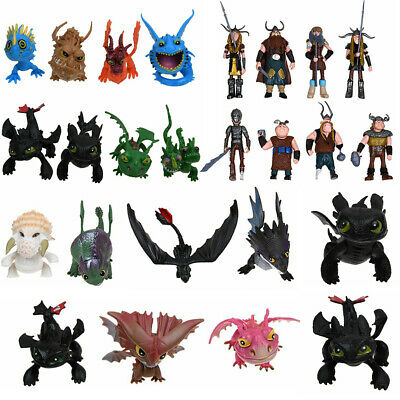 8PCS How to Train Your Dragon Action Figures Set: Toothless Night Fury Nadder US