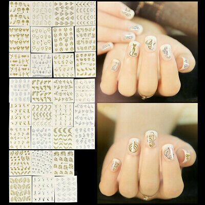 3D Nail Art Transfer Stickers 30 Sheets Flower Cat Decals Manicure Decor DIY