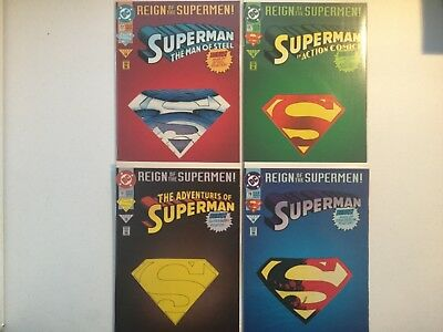 DC 1993 Reign Of The Supermen Die Cut Covers Posters Action Superman Adventure