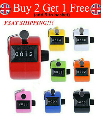 Tally Counter Hand Held Clicker 4 Digit Chrome Palm Golf People Counting Club CQ
