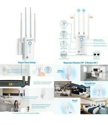 Goodland AC1200 WiFi Range Extender - Super Fast 1200Mbps 2.4/5Ghz Dual Band Wi-