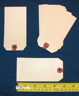 """200 Shipping Tags 4 3/4"""" x 2 3/8"""" #5 Manila Labels Tags 13 Point Avery New"""