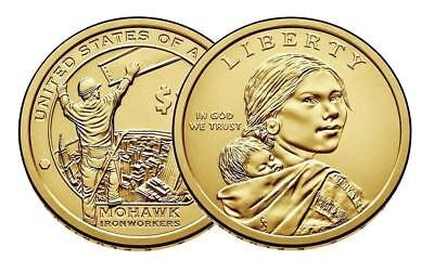 2015 P D SACAGAWEA NATIVE AMERICAN Mohawk High Iron Workers Indian Dollar PD Set