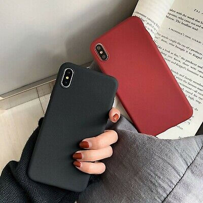 Ultra Slim Fit Protective Matte Back Case Cover For iPhone Xs Max XR 7 8 Plus