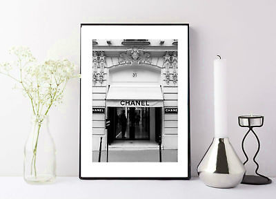 Chanel store front black and white - italy