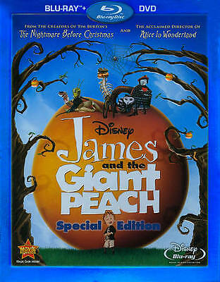 Blu-Ray James And The Giant Peach +Dvd Combo Set Disney's