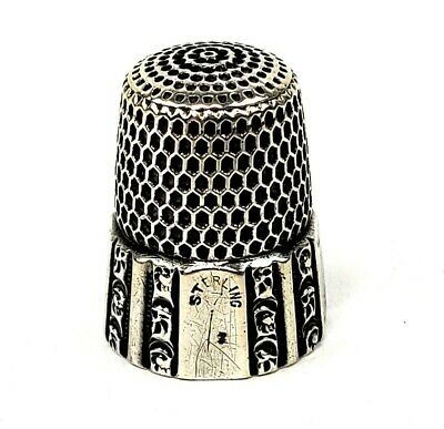 Antique Simons Bros.Sterling Silver Thimble Fluted Octagon Size 7