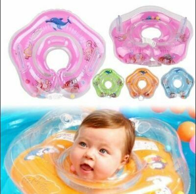 UK Newborn Infant Inflatable Swimming Neck Float Ring Bath Circle Toys Safety NO