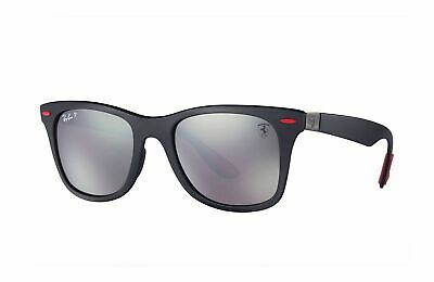 20e107a00f RayBan RB4195M Scuderia Ferrari Collection Sunglasses F602H2 (Matte Black