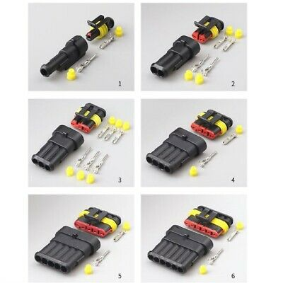 Connettore WATERPROOF 1,5mm IMPERMEABILE 1 - 6 PIN moto auto barca scooter