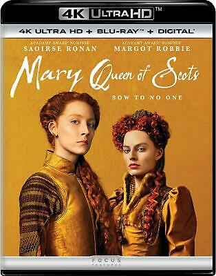Mary Queen of Scots (2018) 4K Ultra HD + Blu-ray + Digital Saoirse Ronan NEW