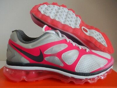 new product ffde8 689db Wmns Nike Air Max + 2012 2014 2013 2009 White-Grey-Pink Flash Sz